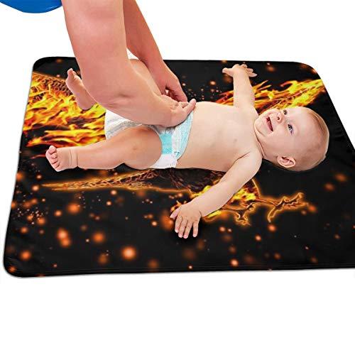 V5DGFJH.B Baby Portable Diaper Changing Pad Phoenix Bird Urinary Pad Baby Changing Mat 31.5