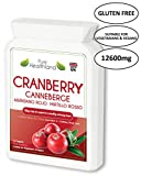 GLUTEN FREE Cranberry Concentrate Supplement Tablets for Urinary Tract Infection UTI. Equal To