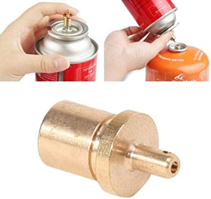 18 x 25mm Aluminum Alloy Camping Stove Canister Butane Gas Refill Adapter