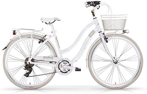 Bicicleta MBM VINTAGE para mujer, mujer, blanco perla (ral 1013): Amazon.es: Deportes y aire libre
