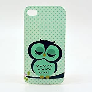 GJY Sleepy Pretty Owl Pattern TPU Soft Case for iPhone 4/ 4S