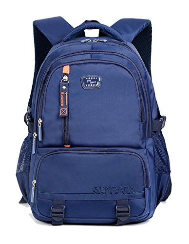 Sturdy Boys Backpack For Kids Elementary School Bags Bookbags (Blue-401)