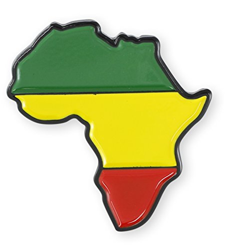 Forge Shape Africa Rastafarian Enamel Lapel Pins (1 Pin)