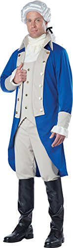 Pair Halloween Costumes 2016 (California Costumes Men's George Washington Costume, Blue/Tan, Medium)