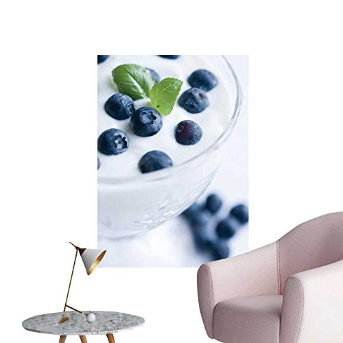 Wall Decor for Home Living Room Yogurt Blueberries White backgroun Safe Painted Wall Decoration,20