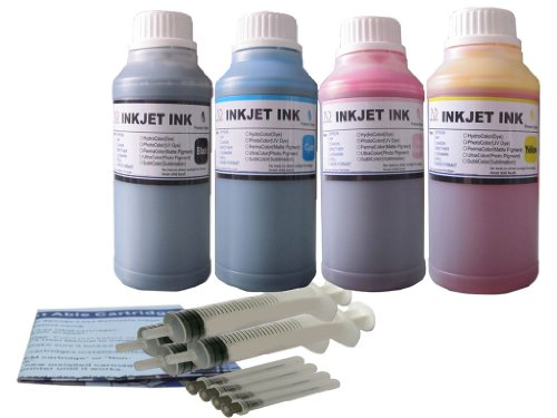4 Bottles 250ml ink refill kit for HP 21/22 27/28 56/57 7...