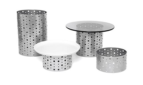 Front of the House BRI004BCI20 4 Dots Riser Set, Stainless Steel (Pack of 2) by Front of the House