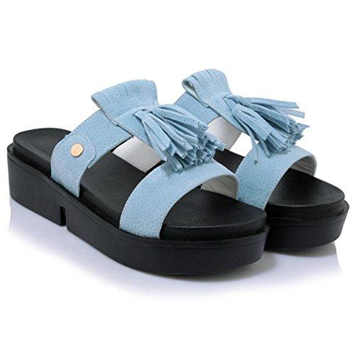 Light Femmes VuluaValas Enfiler Sandales a Mules Blue Chaussures 8fw7Hqwgx