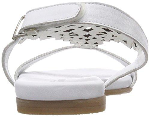 Blanco de Tamaris Silver para Mujer Abierto 28126 White Talón Sandalias UwqRpxF