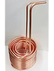 Quick Chill Copper Immersion Chiller Triple Coil 1 2 Inch 3 8 Inch 50 Feet