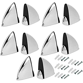 Pack of 10 Uxcell a16063000ux0111 Metal Adjustable Shelf Clip Clamp Support Bracket 10pcs for 5mm-15mm Thick Glass