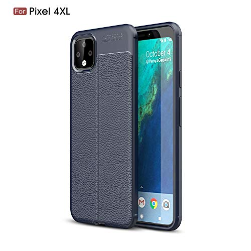 Price comparison product image DAMONDY for Google Pixel 4 XL Case,  Pixel 4 XL Case, 3D Skin Painting Rugged Non Slip Armor Shock Absorption Carbon Fiber Soft Protective Back Cover Defender Phone Case for Google Pixel 4 XL-Navy