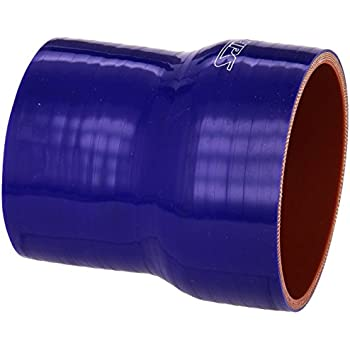 2-1//2  3-1//2 ID HPS HTSR-250-350-BLUE Silicone High Temperature 4-ply Reinforced Reducer Coupler Hose 3 Length Blue 3 Length 2-1//2  3-1//2 ID HPS Silicone Hoses 50 PSI Maximum Pressure