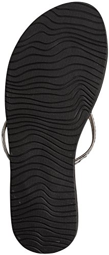 Reef Leather Uptown Braid, Sandalias Flip-Flop para Mujer Gris (Gunmetal)