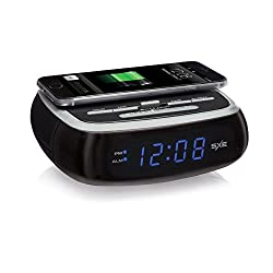 Nyl Holdings SXE Digital Alarm Clock with Wireless Charging Pad