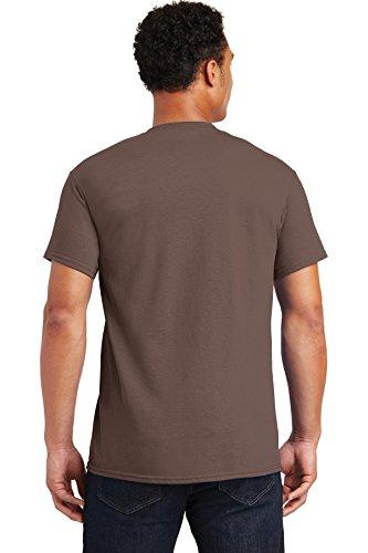 Adult Brown Tee T-shirt - Gildan Men's Ultra Cotton Crewneck T-Shirt, Chestnut, X-Large