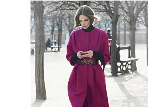 Femminile Europa Vestito Con In Piumino Cappotti Cintura Czz A Wild Giacca Per America Bcx Inverno E Openwork Pelle Wide zAq0g6vqw