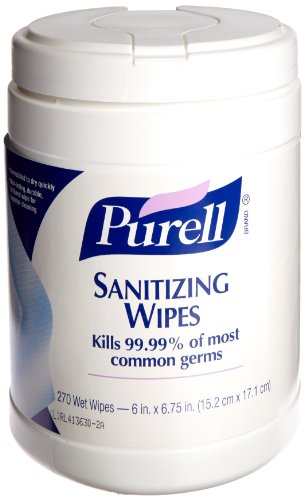 PURELL Hand Sanitizing Wipes, Fresh Citrus Scent, 270 Count Alcohol-free formula Sanitizing Wipes in Eco-Fit Canister (Case of 6) - 9113-06
