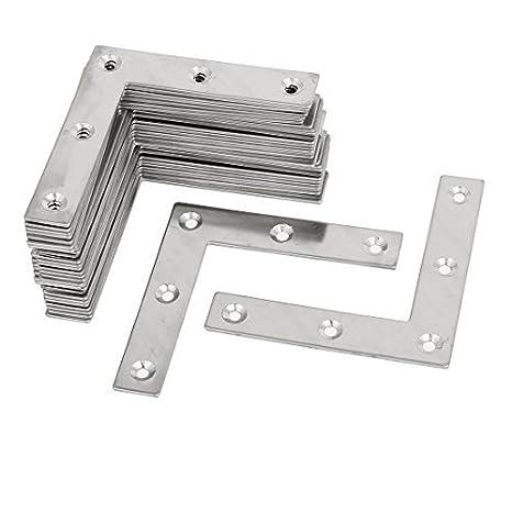 eDealMax 80mmx80x1.5mm L metal en forma de placas planas de reparación sujetadores tono plateado 30pcs - - Amazon.com