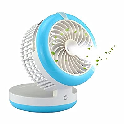 KING DO WAY 4 Mode Table Fans Portable Desktop Rechargeable USB Mini Desk Fans - Misting Cooling Spray Fan - Humidifier