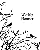 "Weekly Planner: Crows; 18 months; July 1, 2019 - December 31, 2020; 8"" x 10"""