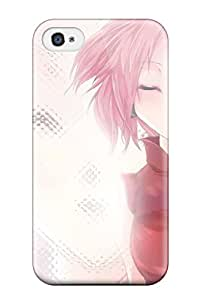 For Iphone 4/4s Premium Tpu Case Cover Sakura Protective Case