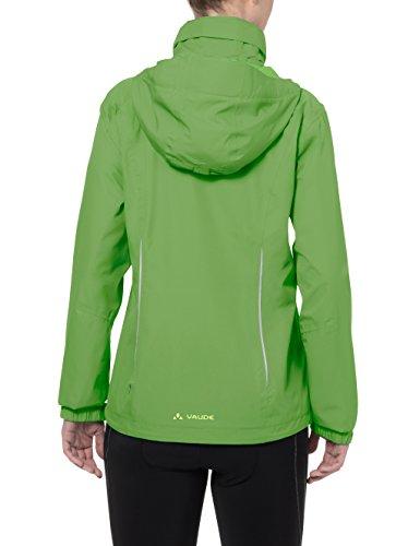 Vaude - Chaleco para mujer, color verde rojo