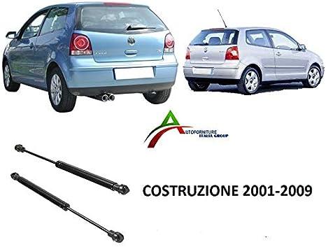 COPPIA MOLLE A GAS PISTONI COFANO POST VOLKSWAGEN POLO  DAL 2001 AL 2009
