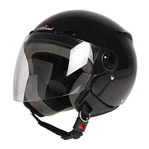 XL Noir 62 Scotland Casque de Moto//Scooter avec Visi/ère Longue