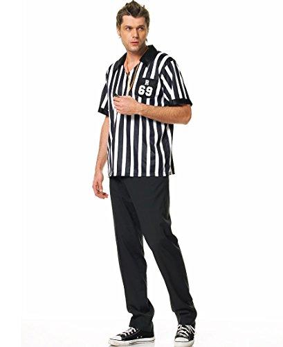 Leg Avenue 83097 Referee Adult Costume - Medium/Large - Black/White ()
