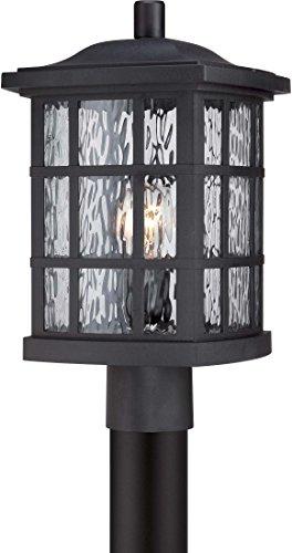 (Quoizel SNN9009K Stonington 1-Light Outdoor Lantern, Mystic Black)