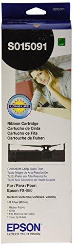 Epson S015091 Black Ribbon Cartridge for (S015091 Black Ribbon)