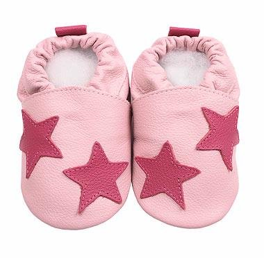 c24f8bdb51bb1b Hippy Chick Baby and Toddler Shoes - Pink Stars (Small (0 - 6 months ...