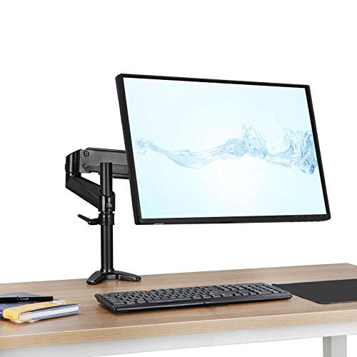 "(Monitor Desk Mount Stand Single Arm Adjustable Height Screens Holder with Clamp Base,Full Motion Swivel Gas Spring Fits 15""-32"" Universal LCD Led VESA Computer Screen)"