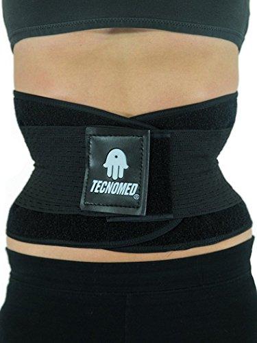 00364e3160c32 Amazon.com   Tecnomed Belt Fitness Body Shaper BLACK MEDIUM   Sports    Outdoors