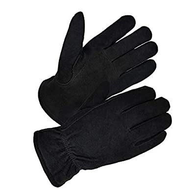 SKYDEER 3M Thinsulate Insulation Winter Gloves with Windproof & Soft & Warm Full Deerskin Suede Leather (Unisex SD8671T)