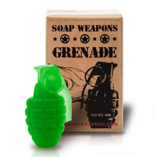 Soap Grenade - Full Size Handmade Green Soap Grenade by ChocolateWeapons