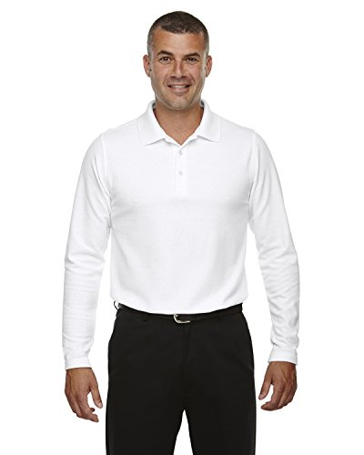 (DJ MENS DRYTEC LS POLO (WHITE) (XL))
