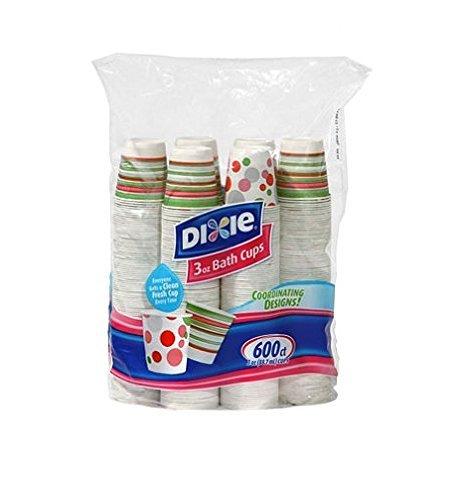 Dixie Bath, 3 oz. -600 Cups,Varies Color, 1 Pack, ()