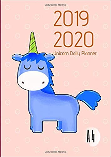 2019-2020 Back To School Planner With Hours Mystical Unicorn ...