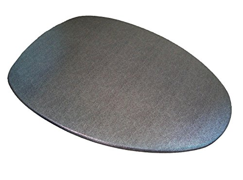 Special Shiny Edition of Fabric Cover for a lid Toilet SEAT for Round & Elongated Models - Handmade in USA (Platinum)