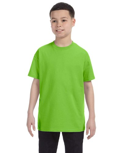 Hanes Authentic Tagless Kid`s Cotton T-Shirt Lime