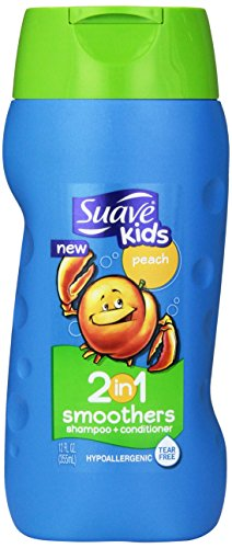 Suave Kids 2-in-1 Shampoo Plus Conditioner, Peach, 12 Fluid Ounce
