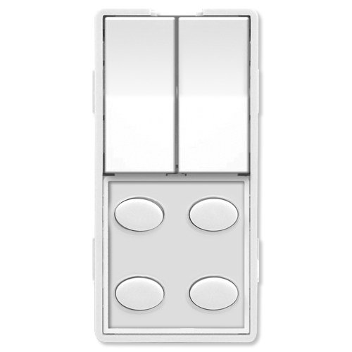 Faceplate, Dual Rocker & 4 Oval Buttons, White (ZS26O-W) ()