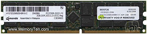- QIMONDA HYS72D256920HBR-6-C PC-2700 DDR333 2GB ECC REG (FOR SERVER ONLY)