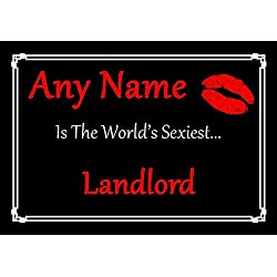 Landlord Personalized World's Sexiest Certificate
