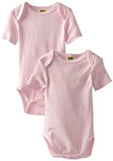 Kushies Girls' Everyday Layette 2 Pack Short Sleeve Bodysuit, Pink Solid/Dots, 24 Months (B004TXTHDU) | Amazon price tracker / tracking, Amazon price history charts, Amazon price watches, Amazon price drop alerts