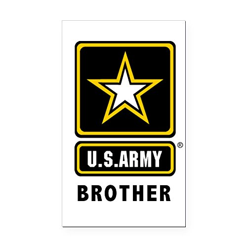 CafePress - Army Brother Rectangle Car Magnet - Rectangle Car Magnet, Magnetic Bumper Sticker