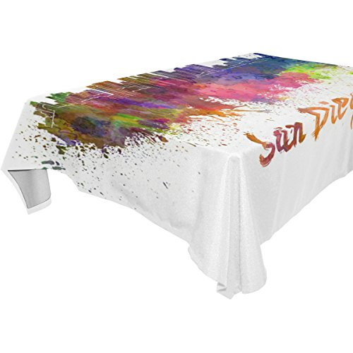Ye Store Polyester Design Customized San Diego Tablecloth -