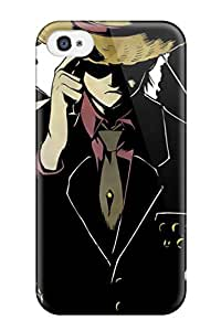 Durable Protector Case Cover With Black One Piece Anime Hot Design For Iphone 4/4s